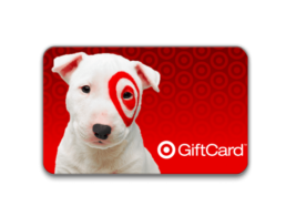 Target gift card with cute dog